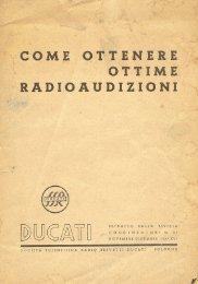 Opuscolo Ducati - Le Radio di Sophie