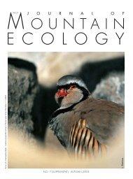 Download pdf - Journal of Mountain Ecology