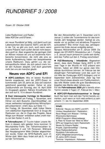 RUNDBRIEF 3 / 2008 - Verkehrs- und Umweltzentrum Essen