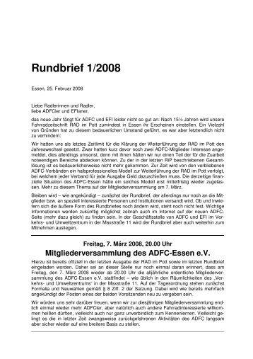 Rundbrief 2008-1 - Verkehrs- und Umweltzentrum Essen