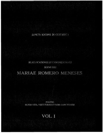Beatificación y Canonización de Sor María Romero - Vida y Obras ...