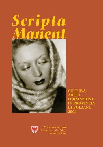 Scripta Manent 2004 (PDF, ca 3 MB) - Rete Civica dell'Alto Adige