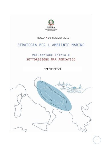 4.3.4 Mar Adriatico - La strategia marina - Ispra