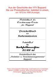 Protokollbuch des - des VVV Boppard 1872 eV