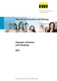 Öffentliche Sicherheit und Ordnung - Württembergische Verwaltungs