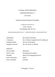 und Wirtschaftsakademie Mecklenburg-Vorpommern e. V. - VWA ...
