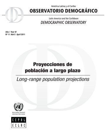 Proyecciones de población a largo plazo Long-range population projections