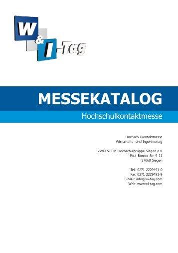 Messekatalog 2011 - VWI-Siegen