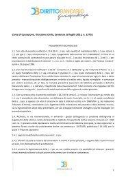 Corte di Cassazione, III sezione Civile, n. 15731 ... - Diritto Bancario