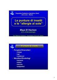 """Le punture di insetti e le """"allergie al sole"""" - Ospedale Pediatrico ..."""