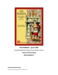 PAX ROMANA -- giochi GMT - GMT Games
