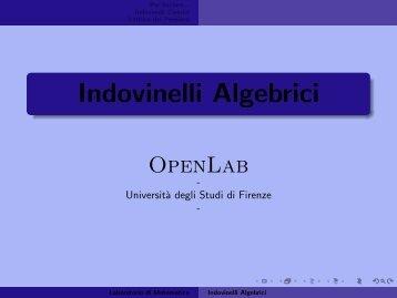 Indovinelli Algebrici