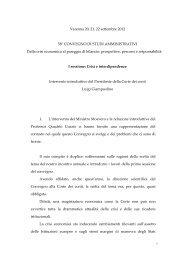 Intervento introduttivo del Presidente Giampaolino - Corte dei Conti