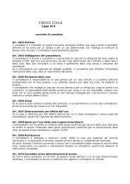 Articoli del Codice Civile sul contratto di comodato - Uil
