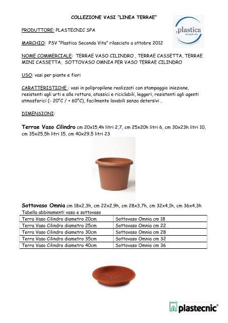 Produttori Vasi In Plastica.Collezione Vasi Classici Festonati Intro Plastecnic Vasi In Plastica