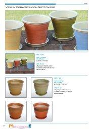 Vasi Vasi in Ceramica con Sottovaso