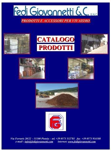 Scarica il nostro Catalogo in pdf - Fedigiovannetti