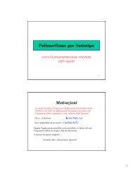 Polimorfismo per Sottotipo verso la programmazione orientata agli ...