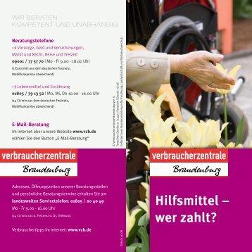 Hilfsmittel ? wer zahlt? - Verbraucherzentrale Brandenburg