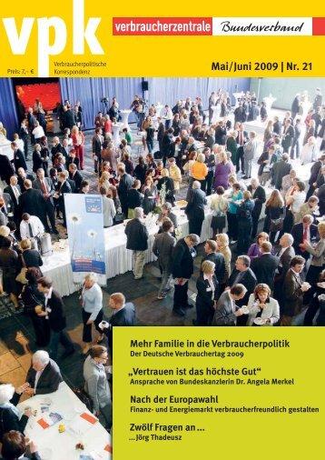 vpk Mai/Juni 2009   Nr. 21 - vzbv