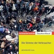 Jahresbericht vzbv 2005