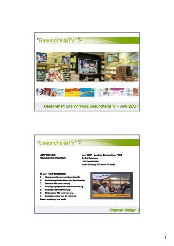Erfolgskontrolle 2007_06 - InstoreTVision