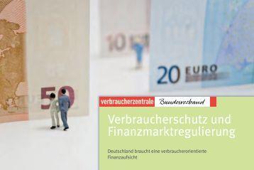 Verbraucherschutz und Finanzmarktregulierung - vzbv