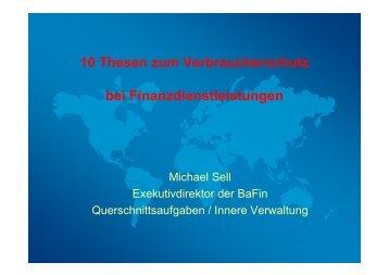 10 Thesen zum Verbraucherschutz bei Finanzdienstleistungen - vzbv