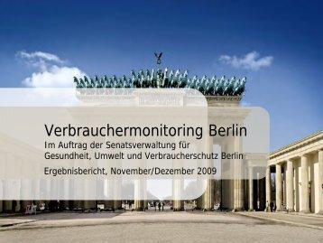 Verbrauchermonitoring Berlin - Berlin.de