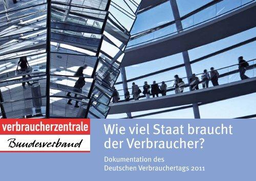 Dokumentation des Deutschen Verbrauchertags 2011 - vzbv