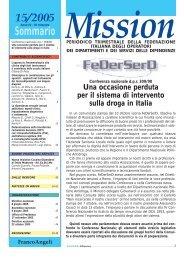 15/2005 Sommario Mission - FeDerSerd