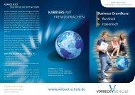 KARRIERE MIT FREMDSPRACHEN - VORBECK-Schule