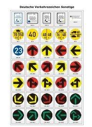 Deutsche Verkehrszeichen Sonstige