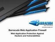 Barracuda Web Application Firewall - Barracuda Networks