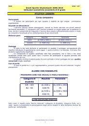 schede tecniche secondo grado - Giochi Sportivi Studenteschi