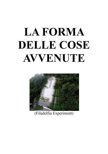 LA FORMA DELLE COSE AVVENUTE - Torna