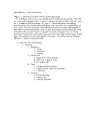 Greek Epistles – Greek form letters. 'Apion, to Epimachus his father ...