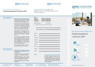 FO-PMF-Sommerakademie 2011 - Voss Consulting
