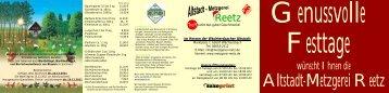 REETZ WEIHNACHTSFLYER 2011 QUER - Metzgerei Reetz