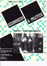 Tijdschrift Gezondheid en Politiek jaargang 1988 nr 2