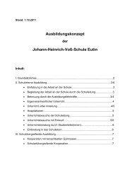 Ausbildungskonzept Johann-Heinrich-Voß-Schule Eutin - voss-schule