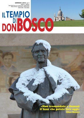 Non tramandate a domani il bene che potete fare ... - Colle Don Bosco