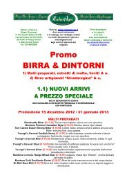 Promo BIRRA & DINTORNI