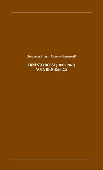 ernesto rossi (1897-1967) nota biografica - Comitato nazionale ...