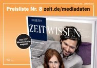 ZEIT WISSEN Preisliste 2012 - IQ media marketing