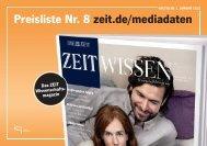 ZEIT WISSEN Preisliste 2012 - IQ media marketing