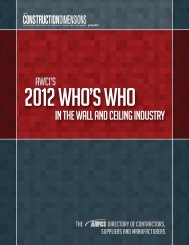 in the wall and ceiling industry