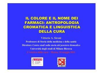 Antropologia cromatica e linguistica della cura (VA Sironi)