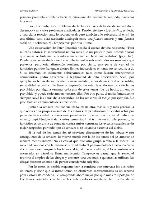 Todorov, T- Introduccion a la Literatura Fantastica - Catedu