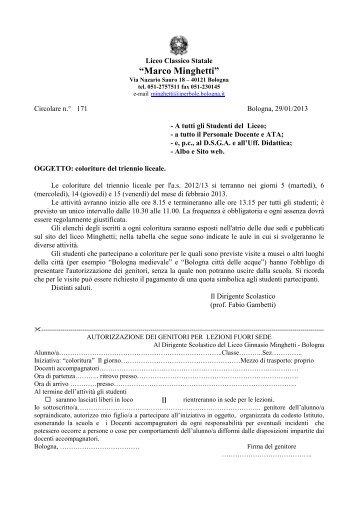 QUI - LICEO MINGHETTI Bologna > Home